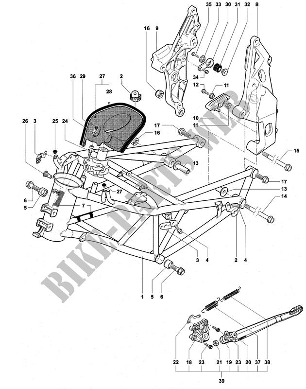 telaietto posteriore monoposto f4 750s 1 1 2001 f4